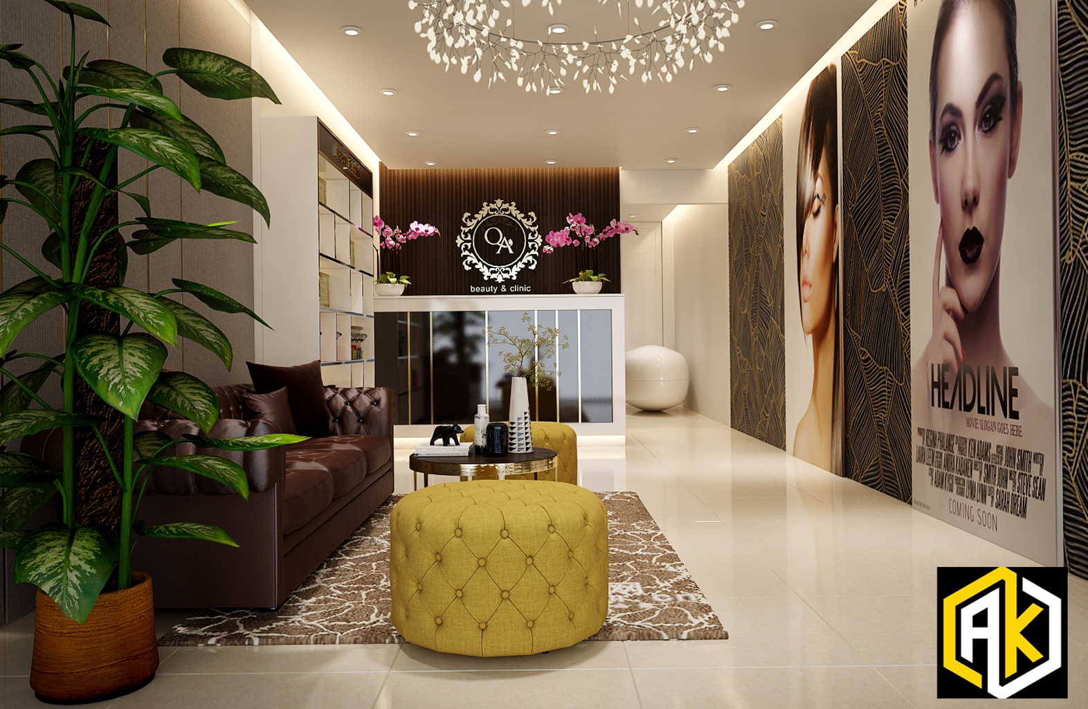 Thiết kế nội thất Spa Đề Thám