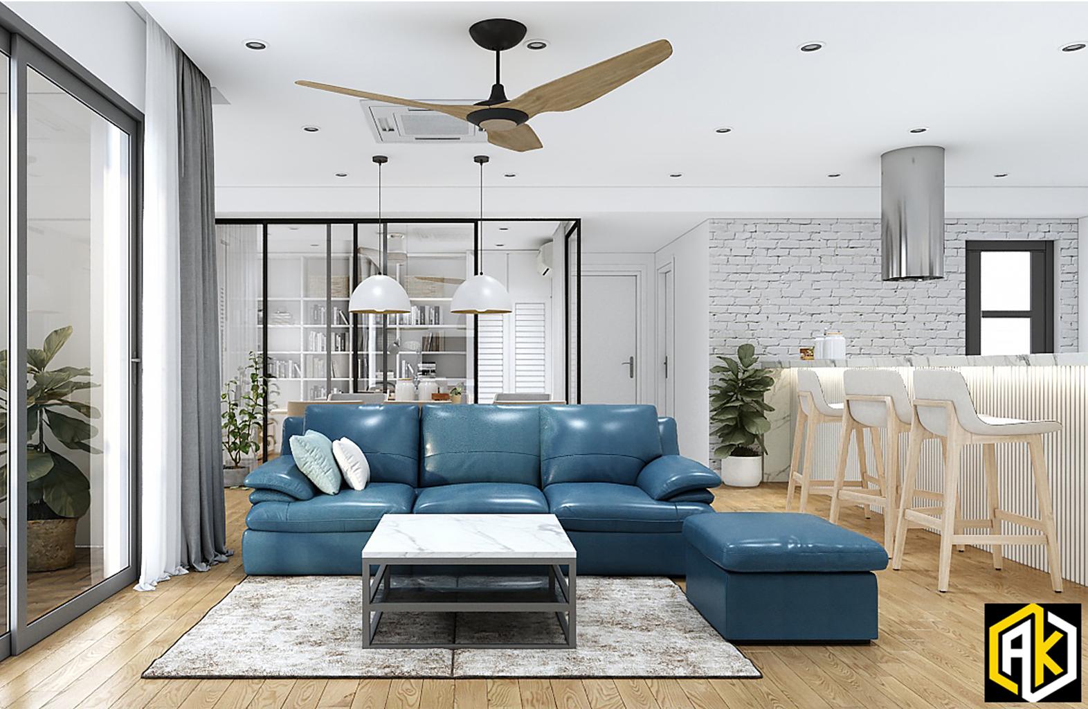 Thiết kế nội thất căn hộ chung cư 77m2