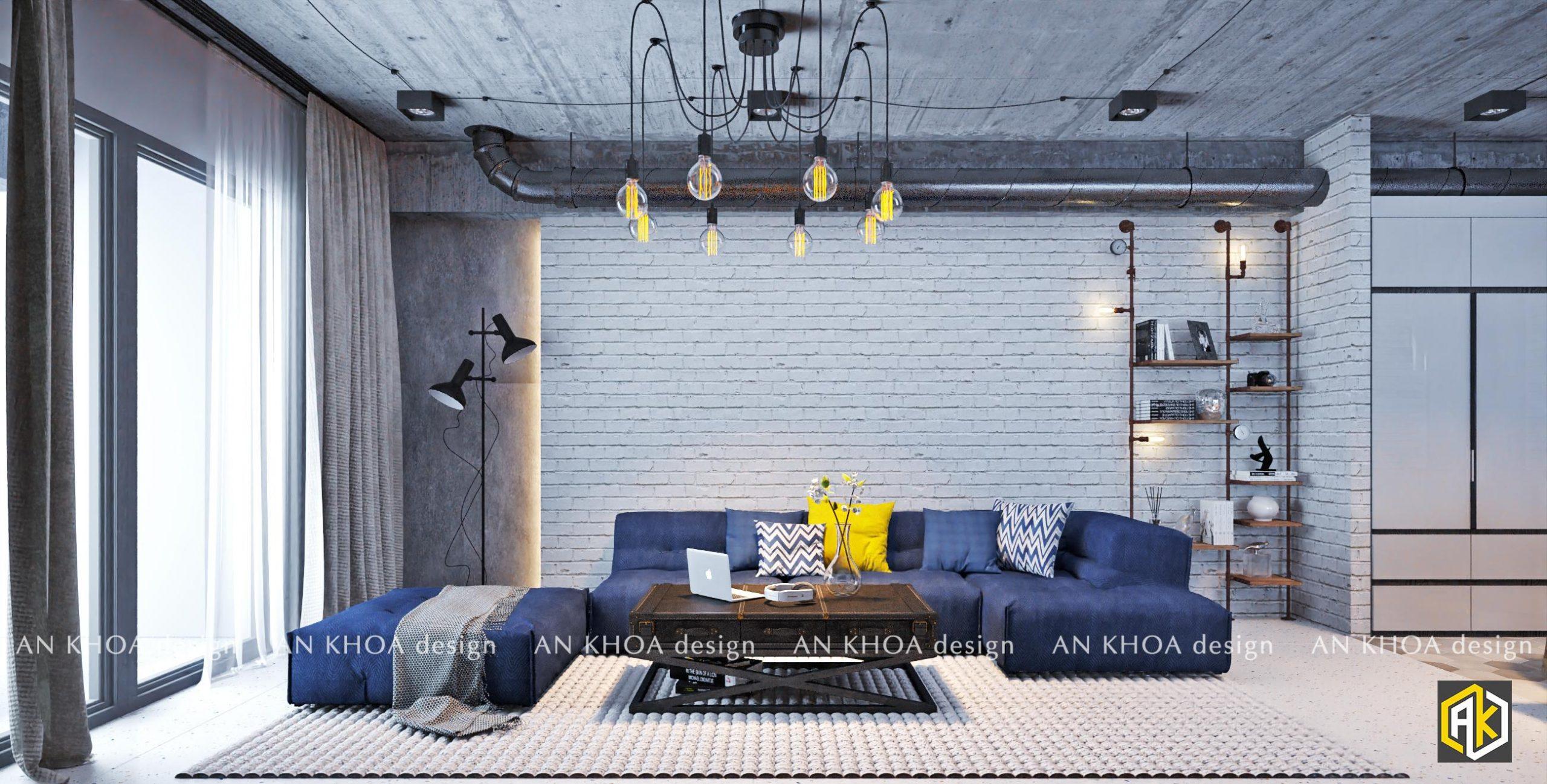 Thiết kế nội thất chung cư 70m2 - saigon south