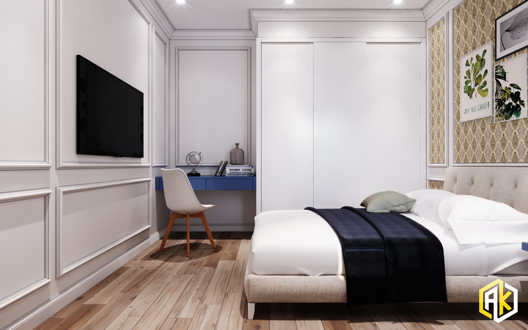 kế nội thất chung cư 2 phòng ngủ