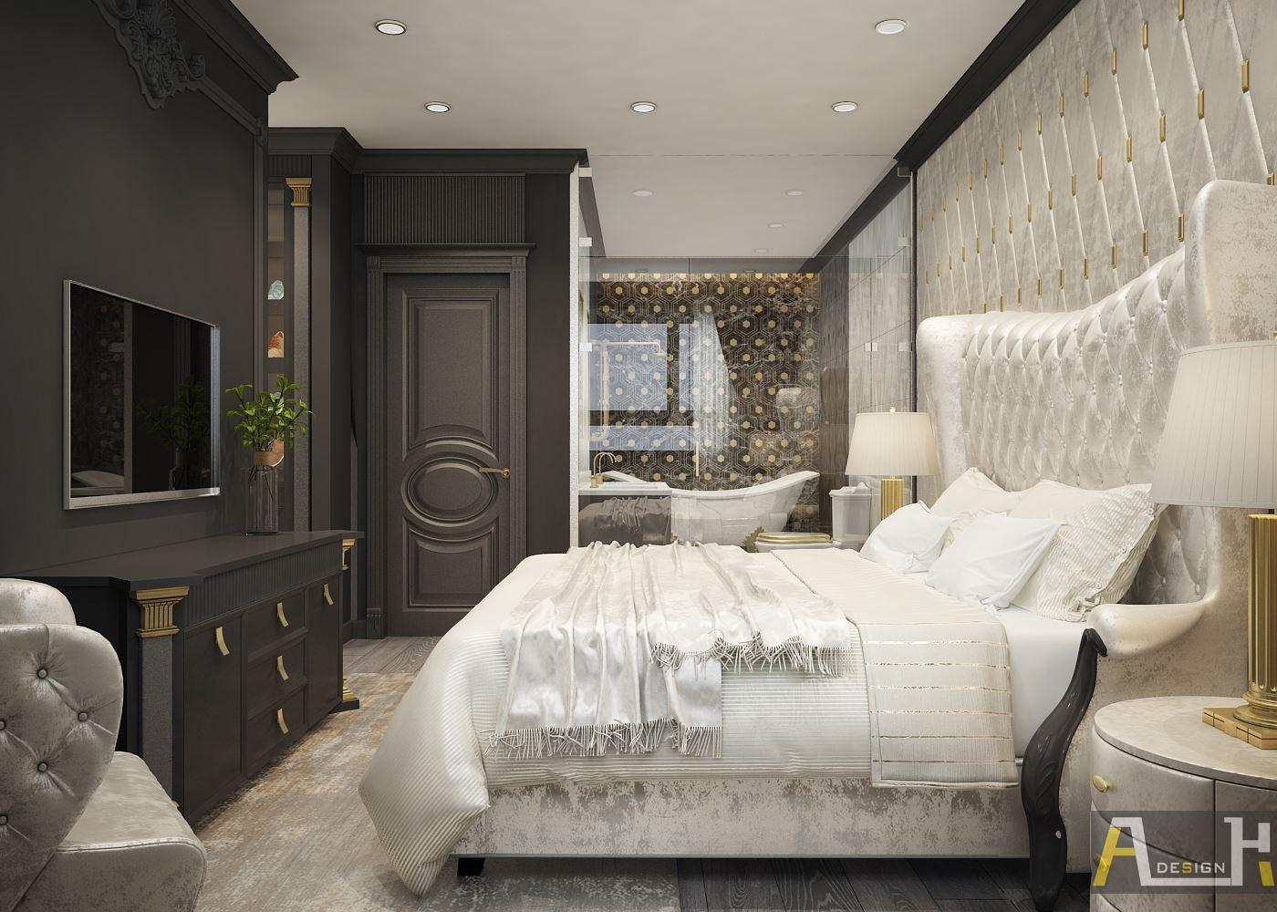 Thiết kế nội thất căn hộ 90m2 The Gokd View