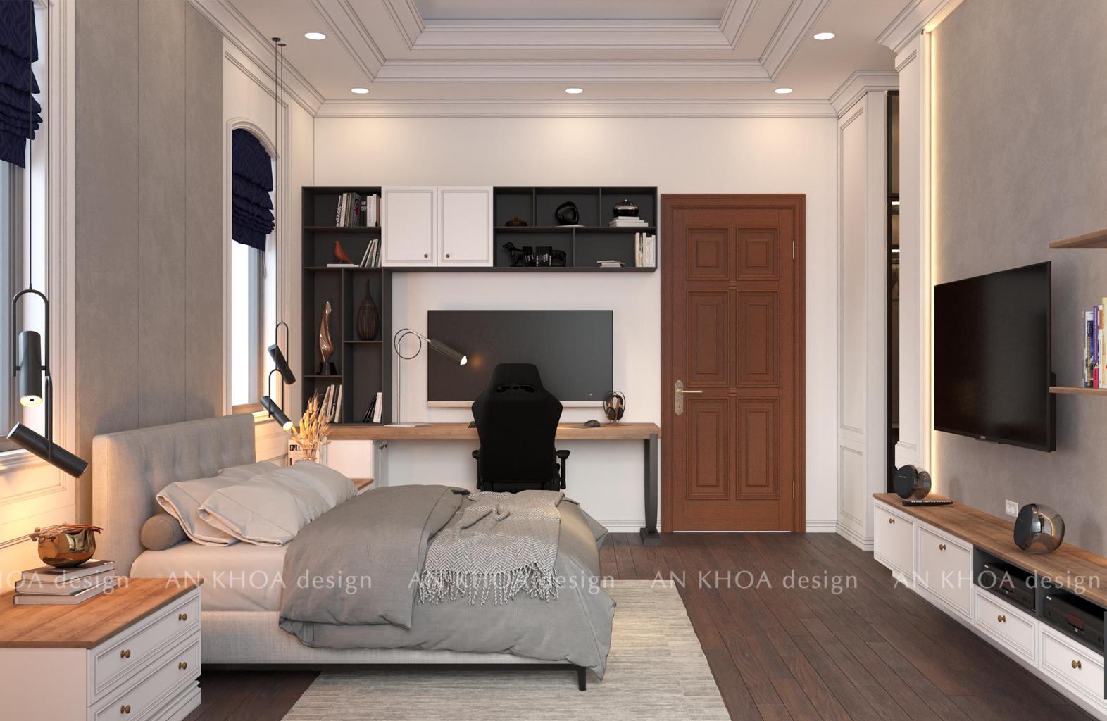 Thiết kế phòng ngủ 24 m2