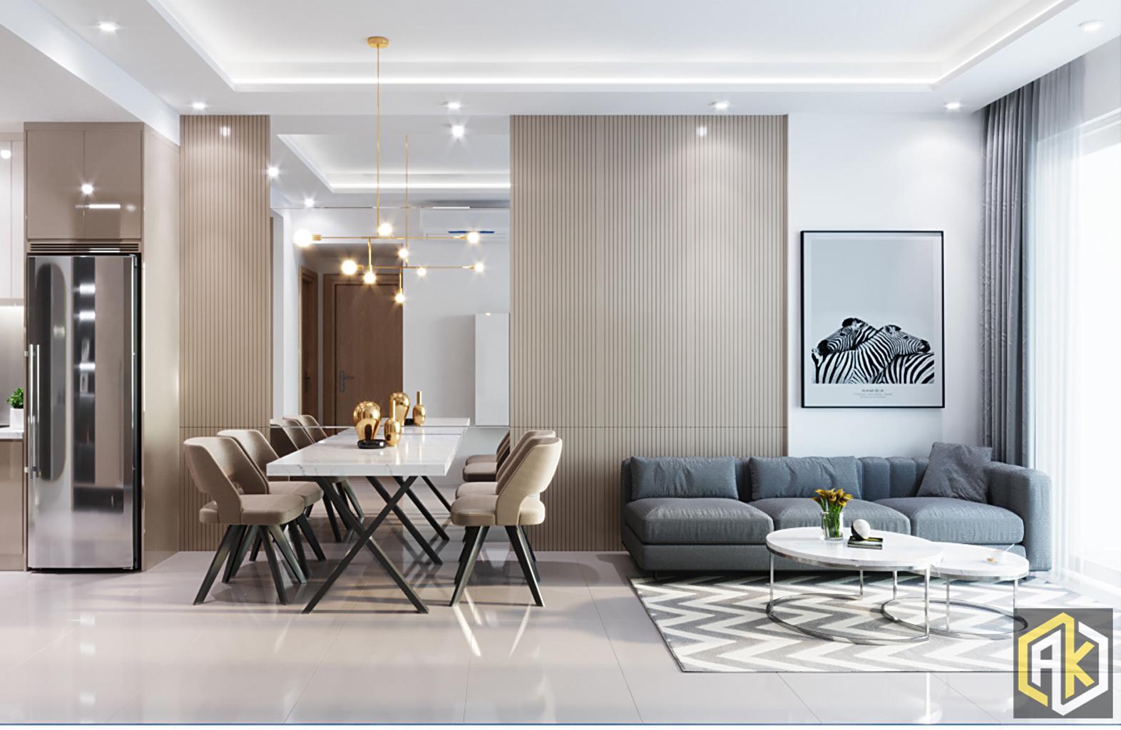 mẫu thiết kế phòng khách _ Golden Masion