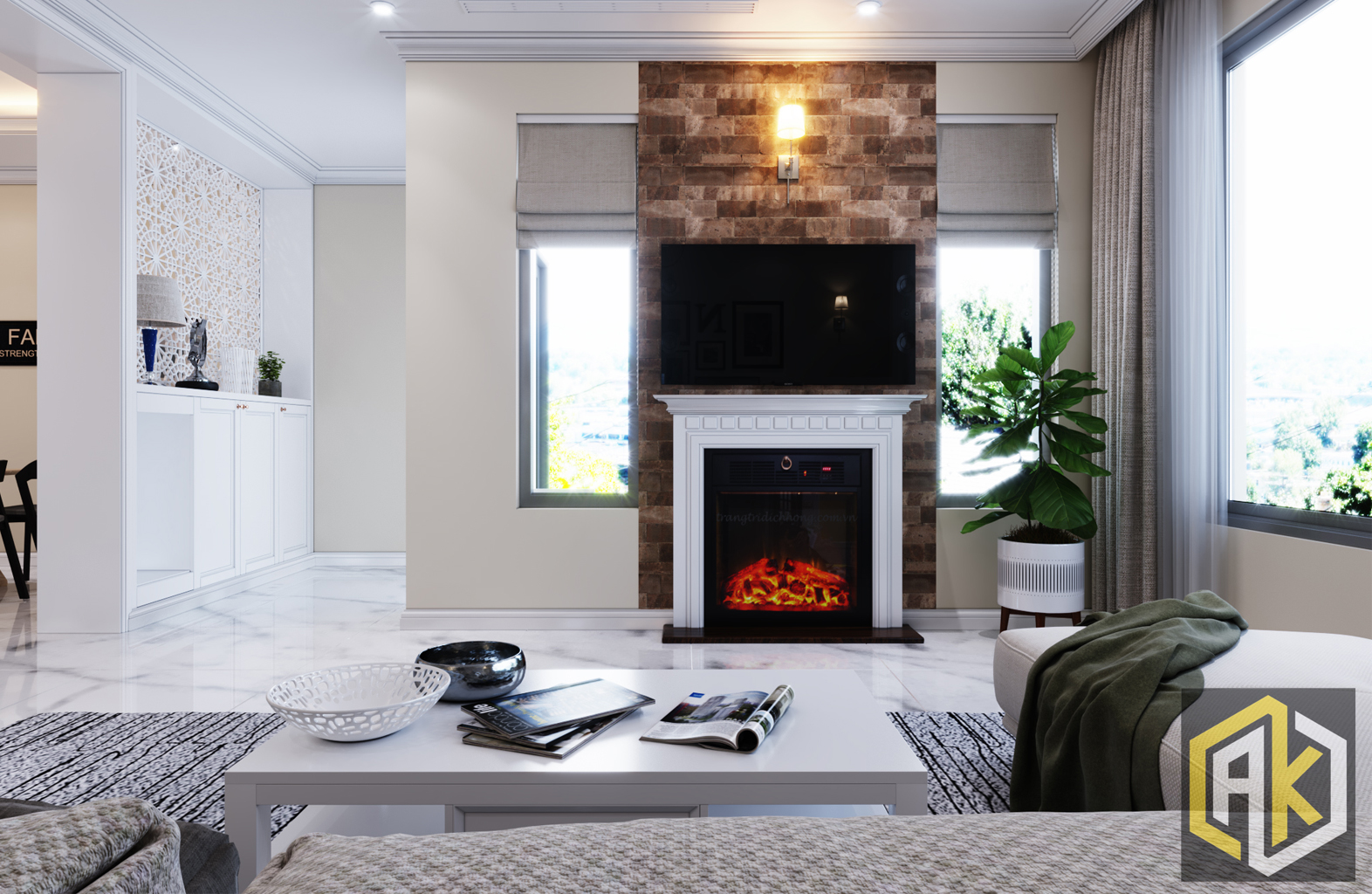 thiết kế nội thất phòng khách _ Nine South(1)