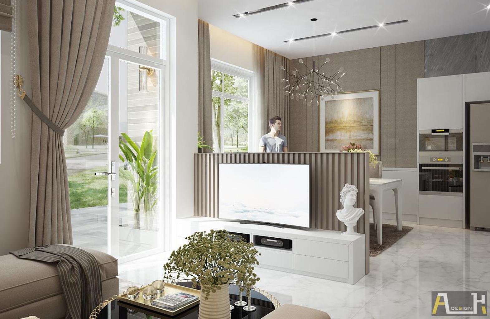 thiết kế nội thất phòng khách _ River Park