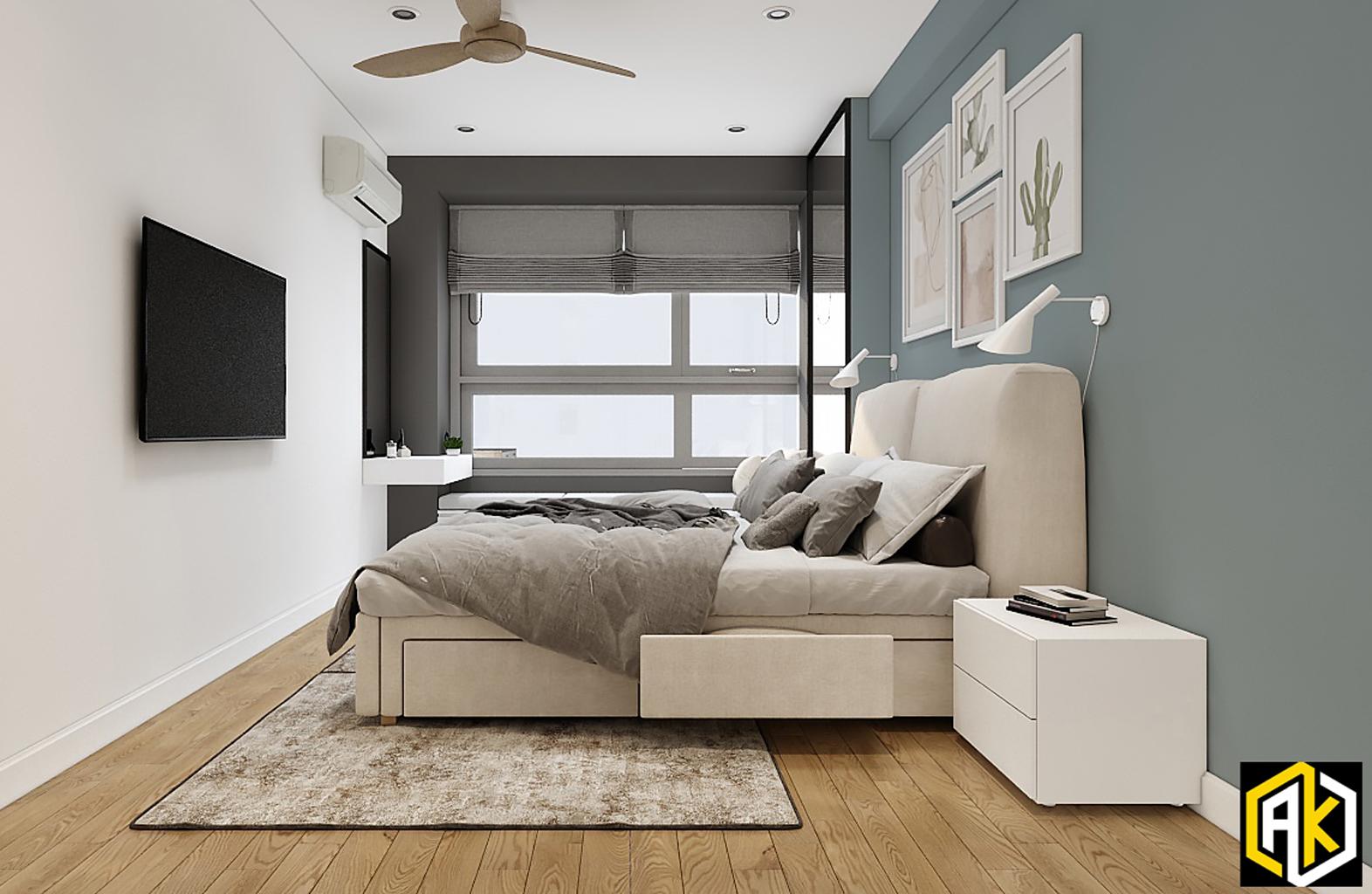 thiết kế phòng ngủ 16m2
