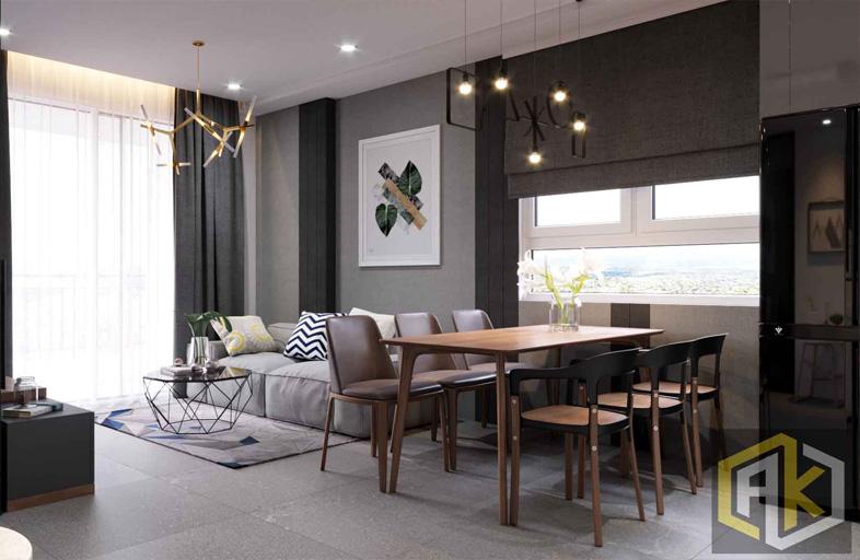 Thiết kế nội thất căn hộ 70m2 Botanica