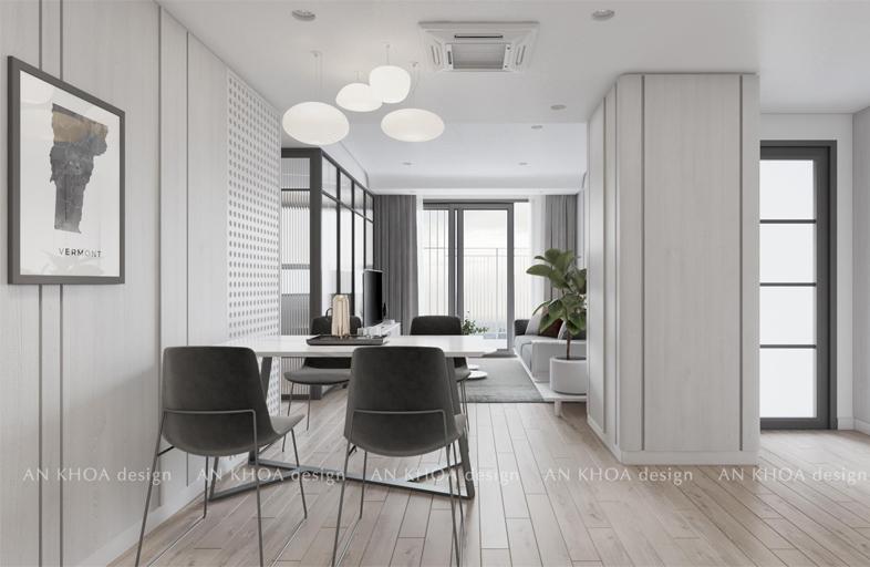 hiết kế nội thất căn hộ 70m2 Sài Gòn South Residences
